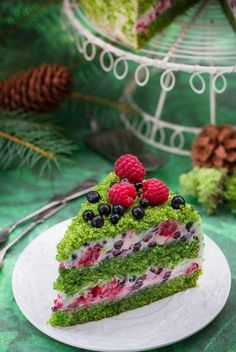 Forest Moss - recipe - I cook because I like Raw Food Recipes, Sweet Recipes, Baking Recipes, Cake Recipes, Gentilly Cake Recipe, Moss Cake, Spinach Cake, Delicious Desserts, Yummy Food