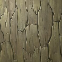 Digitaly Hand Painted - Bark