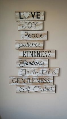 Fruits of the Spirit sign, wood signs sayings, wood signs, wood ...