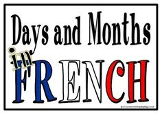With 3 different title pages for choice (Days and Months, Days of the Week, Months of the Year), here are 22 printables, showing the days of the week and months of the year in French. Visit our TpT store for more information and for other classroom display resources by clicking on the provided links.