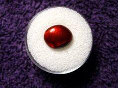 4.67 carats Fiery Red Arizona Fire Agate Gemstone Free Form Cabochon 11 x 9 x 4 mm.