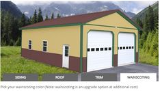 Shirk Pole Buildings Pole Buildings, Drawing Quotes, Brewery, Color Show, Shed, Outdoor Structures, Exterior, Outdoor Rooms, Barns
