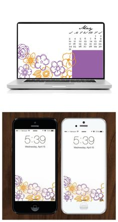 These May 2015 desktop and iPhone wallpapers are like a fiesta on my screen. Love it!