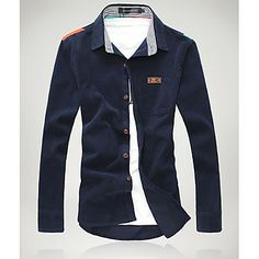 Korean Casual Solid Color Shirt – USD $ 35.99 (click on pic to buy this item)