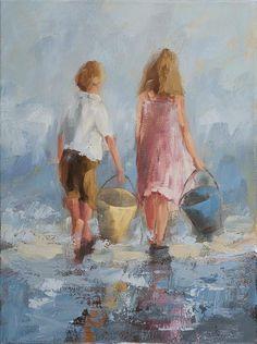 Lucky by Angela Nesbit Oil~ 24x18