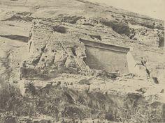 Abu Simbel.  Right stele Hathor temple, 1852-1854