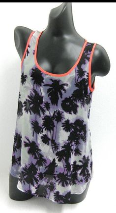 George Asda Ladies Summer Blouse Vest Top Purple, Pink & Black Palm Tree Design in Clothes, Shoes & Accessories, Women's Clothing, Tops & Shirts | eBay #fashion #ladies #girly #women #womensclothes #clothing #clothes #outfit #thatsdarling #pretty #tshirts #shirts #top