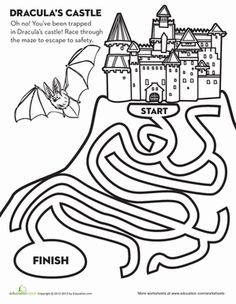 Escape from Dracula's castle by navigating this spooky #Halloween maze!