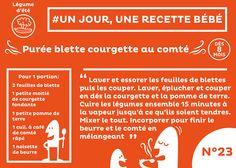 #recette #bébé du jour #23 : Purée blette courgette comté