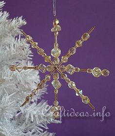 Christmas Craft and Tree Decoration - Beaded Snowflakes