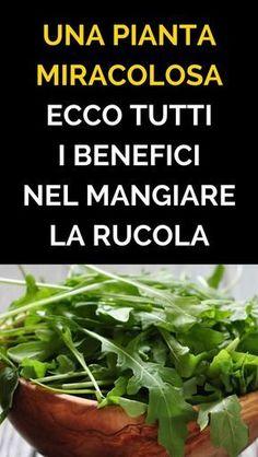 #rucola #rimedinaturali #alimentazione Natural Life, Natural Health, In Natura, Detox Recipes, Antipasto, Finger Foods, Fat Burning, Natural Remedies, Burns
