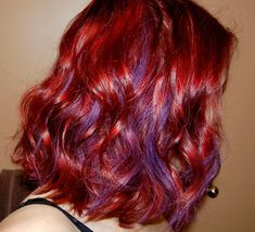 Auburn hair with purple streaks red hair with blonde and purple auburn hair with purple streaks vibrant red hair dye for dark hair hair colour your reference pmusecretfo Image collections