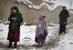 Snow in Afghanistan.