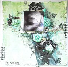 "Accent Scrapbooking: Page "" Imagine "" by Niniscrap"