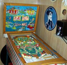 Seven-Seas pinball machine made by Gottlieb circa 1959