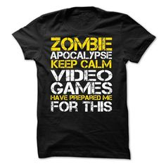 Zombie Apocalypse Gamers Keep Calm Funny T-shirt for gamers