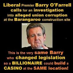 "In Australian politics ""Liberal"" = Republican (USA) and Tory (UK)  #auspol #australia #barryofarrell #nswaustralia #newsouthwales #barangaroo #sydney"