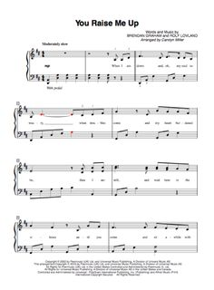 Here's an easy to play piano solo for You Raise Me Up, made popular by Josh Groban. It would be a great selection for students that have studied piano for at least four years. Get You Raise M…