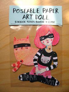 Poseable Paper Art Doll
