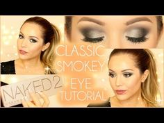 Classic Smokey Eye Makeup Tutorial - Urban Decay Naked 2 palette | Laura Sommerville - YouTube