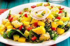 Avocado, Mango, Spinach and Pineapple Quinoa Salad