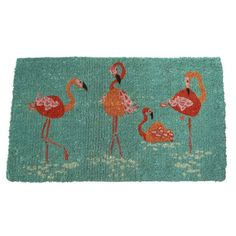 Summer Coir Doormat – Flamingo Coast