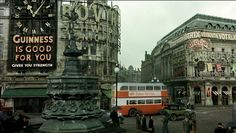 "A computer-enhanced scene of Piccadilly Circus around the time of WW2 taken from ""Mrs Henderson Presents""."