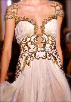 #Zuhair Murad 2013....details  Long dress