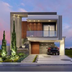 You can fix your home exterior design even if you do not have much money. In this article I am going to talk about the ways to improve your home exterior design. Appealing design will enhance the aesthetic values of… Continue Reading → Modern Exterior House Designs, Dream House Exterior, Modern Architecture House, Modern House Plans, Modern House Design, Exterior Design, Architecture Design, Amazing Architecture, Home Design