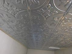 DIY Tin Ceiling Tiles for dining room...always LOVED a tin ceiling!