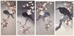 Ukiyoe-Gallery - Library Page, Tid-Bits 2003 - Extensive Gallery of Ukiyo-e & Shin Hanga Japansese Woodblock Prints, plus Library about… Crow Art, Japanese Art, Art Images, Beautiful Artwork, Sakura Tattoo, Japanese Woodblock Printing, Ukiyoe, Prints, Library Tattoo