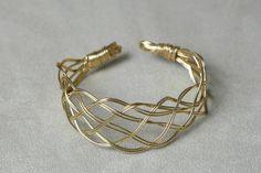 Nasiis on CraftzBay Braids, Wire, Elegant, Bracelets, Gold, Gifts, Jewelry, Classy, Bangle Bracelets