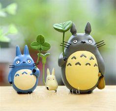 3pcs/Set Studio Ghibli My Neighbor Totoro Resin Mini Figure Toy