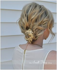 Tousled and Messy Curly Hair Styles Pretty Hairstyles, Braided Hairstyles, Wedding Hairstyles, Braided Updo, Style Hairstyle, Updo Hairstyle, Wedding Updo, Messy Curly Hair, Curly Hair Styles