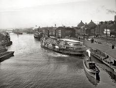 "1897 | ""Commodore H.M. Gillig's racing sloop Vencedor on Lake Erie"" | John S. Johnston"