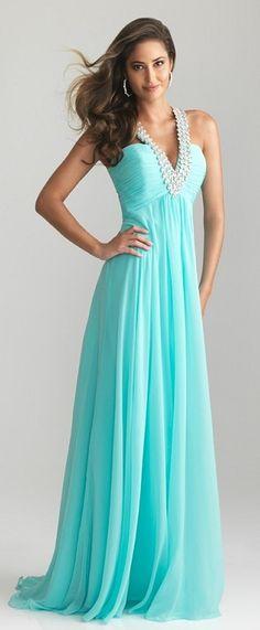 Aqua Chiffon Dress,Tiffany Blue Prom Dress,Turquoise Chiffon ...