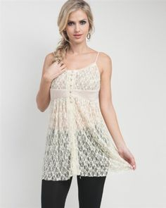 Button Lace Cami : G2 Chic