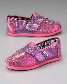 Z0M2Q TOMS Colorblock Glitter Shoe, Tiny