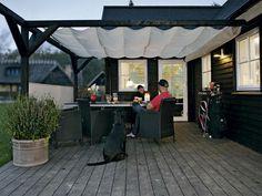 overdækket terrasse sejldug