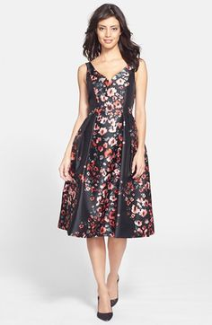 The Best Holiday Party Dresses for Every Affair - Floral print fit-and-flare dress