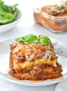 """""""Just Like the Real Thing"""" Low Carb Keto Lasagna - Peace Love and Low Carb Meat Sauce Recipes, Beef Recipes, Lasagna Recipes, Dinner Recipes, Pasta Recipes, Italian Recipes, Ketogenic Recipes, Low Carb Recipes, Healthy Recipes"""