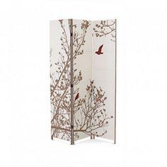 NEXXT Bota' Triple-Panel Floor Screen - Trees With Birds