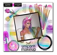 """""""Untitled #760"""" by lilmissmegan ❤ liked on Polyvore featuring beauty, In Your Dreams, Lime Crime, Unicorn Lashes, NYX, FCTRY, KAROLINA and NARS Cosmetics"""