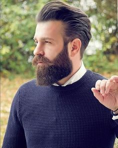 Growing long beard was difficult back then. There were no essential grooming products available mainly best beard moisturizer, oil, and balm. Mens Hairstyles With Beard, Haircuts For Men, Trendy Hairstyles, Hairstyle Men, Long Beard Styles, Hair And Beard Styles, Barba Grande, Beard Suit, Men Beard