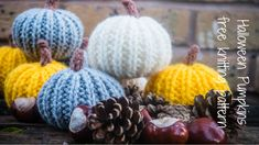As a little bit of seasonal fun, I wanted to share this quick and easy pattern to create your very own knitted Halloween pumpkin. Halloween Knitting Patterns Free, Halloween Crochet, Easy Knitting Patterns, Free Knitting, Knitting Projects, Baby Knitting, Crochet Projects, Crochet Patterns, Halloween Garland