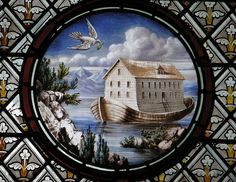 Stained glass of Noah's Ark