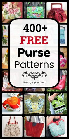 Free Purse Patterns Purse Patterns to sew. Over 400 free purse & bag patterns, tutorials, and diy sewing projects. Handbag Patterns, Bag Patterns To Sew, Sewing Patterns Free, Free Sewing, Quilted Purse Patterns, Diy Sewing Projects, Sewing Projects For Beginners, Sewing Hacks, Sewing Tutorials