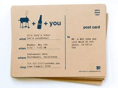 BBQ + Beer Party Invitations by Cool Mom Picks