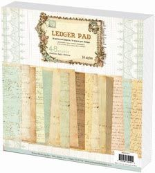 "Ledger Paper Stack 12""X12"" 48 Sheets"