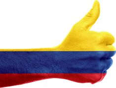 Colombia Flag Hand National transparent image